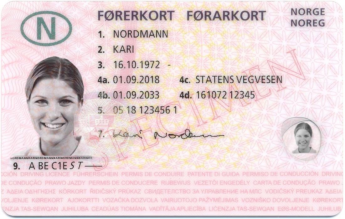Førerkort for Kari Nordmann