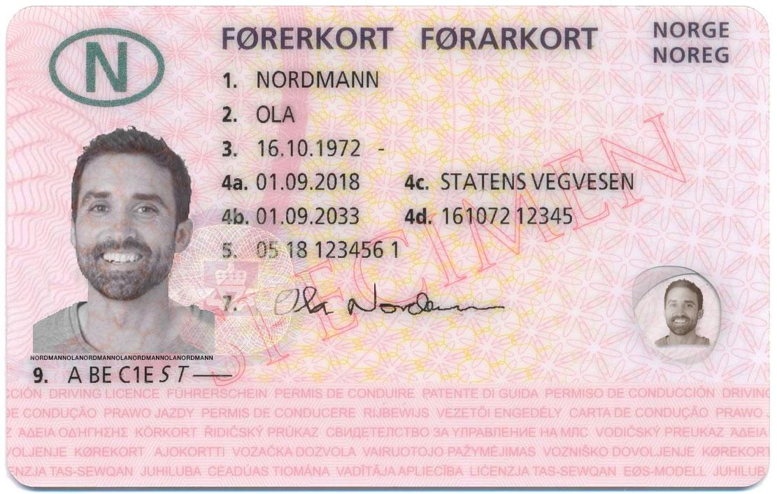 Førerkort for Ola Nordmann