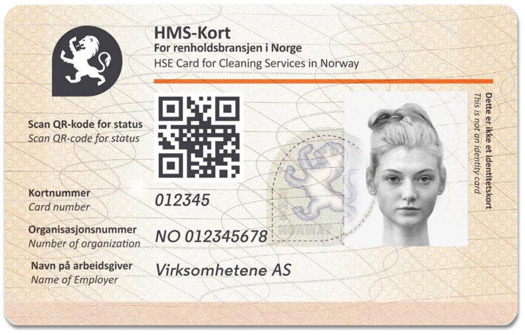 HMS-kort for renholdsbransjen